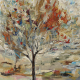 Red Bird Tree Impressão giclée por Jodi Maas