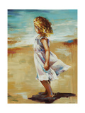 Girl at the Beach Giclee Print by Sydney Edmunds
