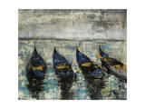 Indigo Boats Giclee Print by Alexys Henry