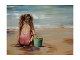 Girl with bucket Giclee Print by Sydney Edmunds