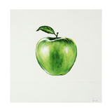 Green Apple Giclee Print by Sydney Edmunds