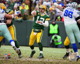 Aaron Rodgers 2014 Playoff Action Photo