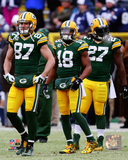 Jordy Nelson, Randall Cobb, Eddie Lacy 2014 Playoff Action Photo