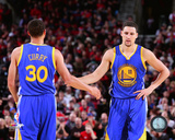 Stephen Curry & Klay Thompson 2014-15 Action Photo