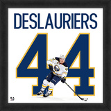 Nicolas Deslauriers - Framed photographic representation of the player's jersey Framed Memorabilia