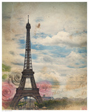 Eiffel in Rose Sky Posters
