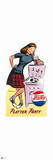 Pepsi - Platter Party, Vintage 1949 Cut out Display Prints