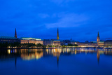 Alster Lake, Hamburg Photographic Print by  europhotos