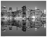 Downtown Lights Print by  Mortula