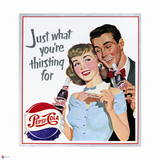 Thirsting for Pepsi - Vintage 1951 Ad Premium Giclee Print