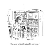 """You came up in therapy this morning."" - New Yorker Cartoon Premium Giclee Print by David Sipress"