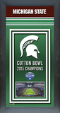 Michigan State Spartans 2015 Cotton Bowl Framed Championship Banner Framed Memorabilia