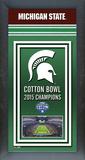 Michigan State Spartans 2015 Cotton Bowl Framed Championship Banner Framed Memorabilia