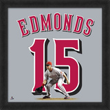 Jim Edmonds - Framed photographic representation of the player's jersey Framed Memorabilia