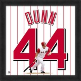 Adam Dunn - Framed photographic representation of the player's jersey Framed Memorabilia