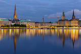 Hamburg City Center over the Lake Posters by Leonid Andronov