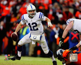 Andrew Luck 2014 Playoff Action Photo