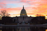 Washington Dc, Capitol Building in a Cloudy Sunrise Poster by  Orhan
