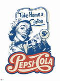 Pepsi - Vintage 1950s Take Home a Carton Graphic Prints