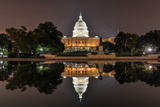 Us Capitol in Washington Dc at Night Photographic Print by  demerzel21