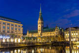 View of Hamburg City Hall - Germany Posters by Leonid Andronov