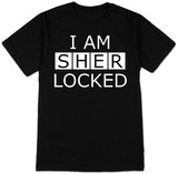 Sherlock - I am Sherlocked (Black) T-shirts