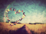 Heart Shape Made of Colorful Butterflies on Vintage Field Background. Love, Hope Concept. Poster by PHOTOCREO Michal Bednarek