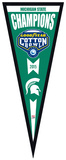 Michigan State Spartans 2015 Cotton Bowl Champions Pennant Framed Memorabilia