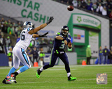 Russell Wilson 2014 Playoff Action Photo
