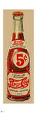 Vintage 1940s 5 Cent Pepsi Bottle Cutout (Neutral Background) Posters