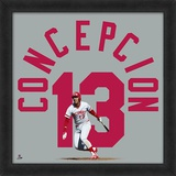 Dave Concepcion - Framed photographic representation of the player's jersey Framed Memorabilia
