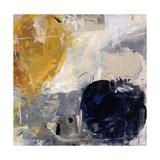 Gold Grey and Blue Giclee Print by Jodi Maas