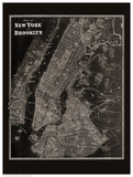 The Plan of New York and Brooklyn, 1867 Plakater af Frederick W. Beers