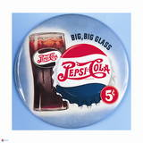 Pepsi - Big Big Glass Blue Vintage 1950s Sign Posters