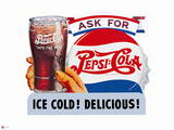 Pepsi - Ice Cold, Delicious Vintage Cutout Sign Prints