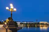 Hamburg Binnenalster at Night Photographic Print by  IndustryAndTravel