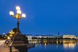 Hamburg Binnenalster at Night Prints by  IndustryAndTravel