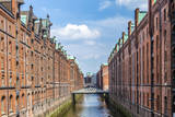 Warehouses in Speicherstadt in Hamburg, Germany Photographic Print by Jorg Hackemann
