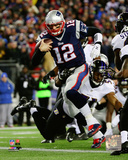 Tom Brady Touchdown Run 2014 Playoff Action Photo