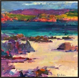 White Sands, Iona, 2011 Framed Canvas Print by Peter Graham