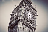Big Ben, the Bell of the Clock close Up. the Famous Icon of London, England, the Uk. Black and Whit Photographic Print by PHOTOCREO Michal Bednarek