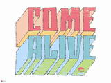 Pepsi - Come Alive Graphic 1963 Block Text Art