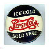 Pepsi - Vintage 1940 Grocery Store Circular Sign Poster