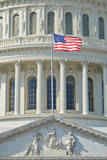 Capitol Building in Washington DC USA - Close-Up to Dome and US Flag Prints by  Orhan
