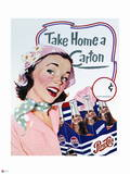 Pepsi - Vintage 1950s Take Home a Carton Ad Poster