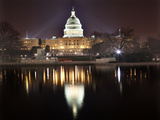 Us Capitol Night Reflection Washington Dc Prints by  BILLPERRY