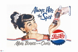 Pepsi - Always Hits the Spot 1950 Ad Posters
