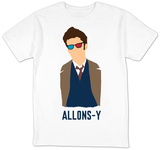 Doctor Who - David Tennant Vector Allons-y T-shirts