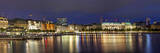 Evening Panorama of Hamburg from Alster Lake Photographic Print by  bbsferrari