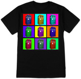 Doctor Who - TARDIS Psychedelic Squares T-Shirt